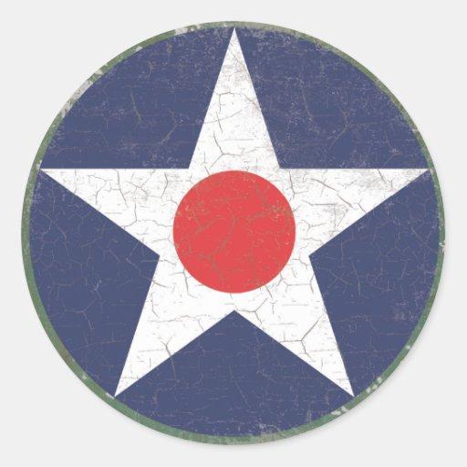 Punto rojo rústico de Roundel de la estrella Etiqueta