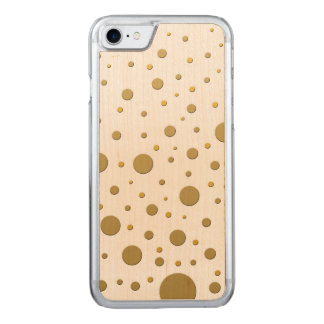 Puntos al azar del oro de la diversión funda para iPhone 7
