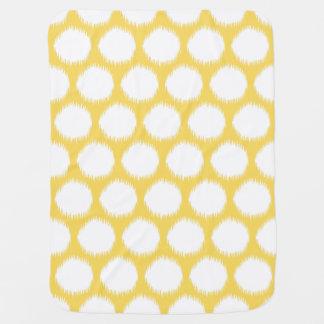Puntos asiáticos amarillo claro de Ikat de los Mantita Para Bebé
