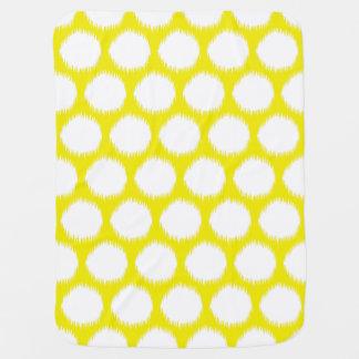 Puntos asiáticos amarillos de oro de Ikat de los Mantita Para Bebé