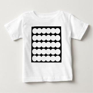 Puntos blancos de Ethno BLANCOS Y NEGROS. Diseño Camiseta De Bebé