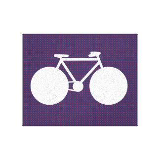 puntos blancos/rojos de la bicicleta pequeños lona envuelta para galerías