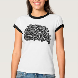 Puntos blancos y negros camiseta