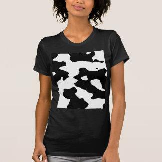 Puntos blancos y negros del modelo de la vaca