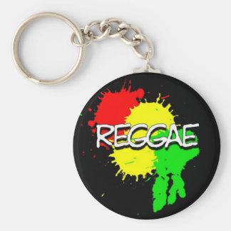 puntos de la bandera del reggae en un fondo negro llavero