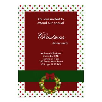 Puntos de la cena de navidad invitación 12,7 x 17,8 cm