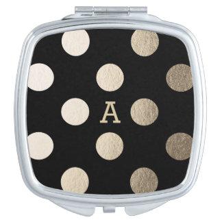 Puntos de lujo personalizados del | espejo compacto