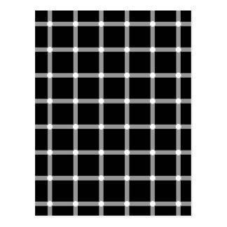 Puntos del centelleo - ilusión óptica postal