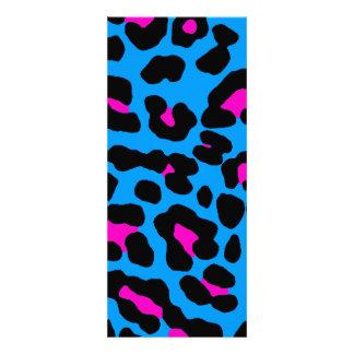 Puntos del leopardo del tigre 80s de Corey (azules Comunicado Personalizado