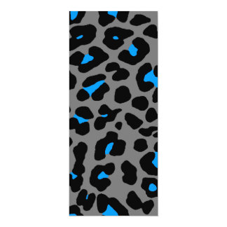 Puntos del leopardo del tigre 80s de Corey Invitación 10,1 X 23,5 Cm