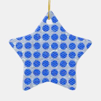 Puntos del mosaico - azul adorno de reyes