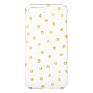 Puntos elegantes del confeti de la hoja de oro funda para iPhone 7 plus