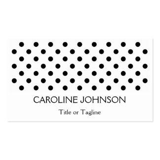 Puntos monocromáticos negros blancos elegantes del tarjetas de visita