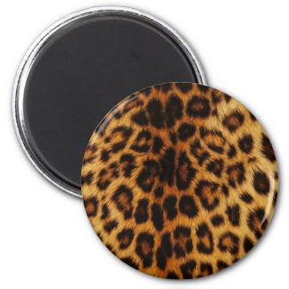 Puntos naturales del leopardo imán redondo 5 cm