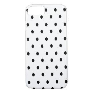 Puntos negros del blanco de n funda iPhone 7