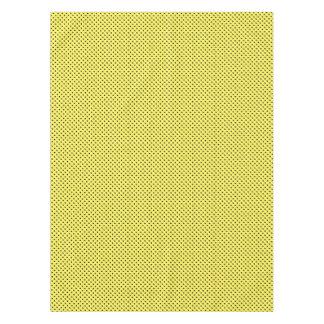 Puntos negros en amarillo mantel