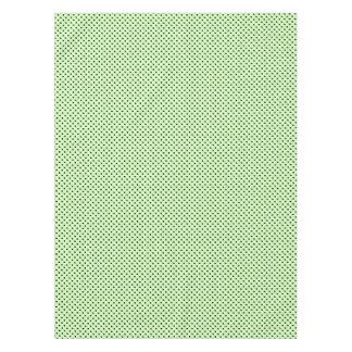 Puntos negros en verde menta mantel