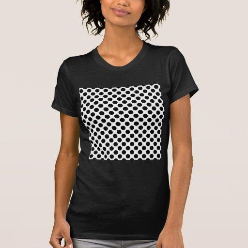 Puntos negros y blancos - modelo retro camisetas