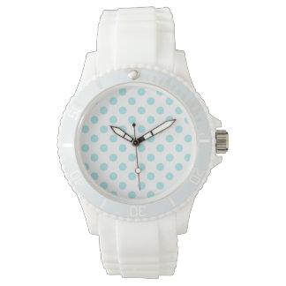 PUNTOS: Reloj blanco deportivo del silicio de las