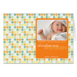 Puntos retros anaranjados • Invitación del bebé Tarjetas