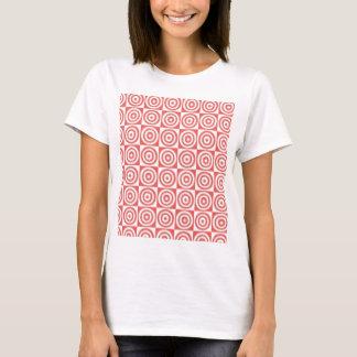 Puntos rojos y blancos camiseta