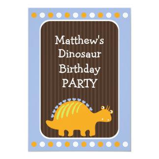 Puntos y fiesta de cumpleaños del dinosaurio de comunicados personalizados