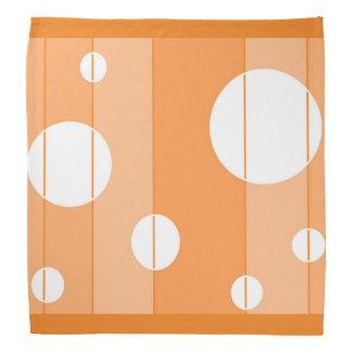 Puntos y rayas en naranja bandana