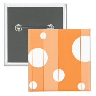 Puntos y rayas en naranja chapa cuadrada 5 cm