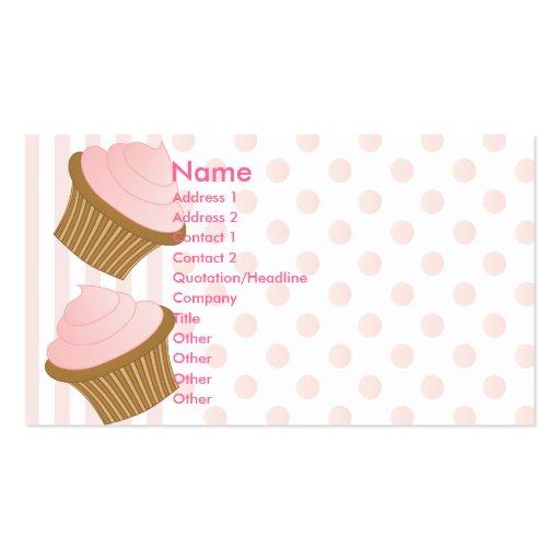 Puntos y rayas y magdalenas tarjeta personal
