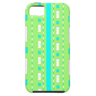 Puntos y rociadas en verde y azules cielos de mar iPhone 5 carcasas