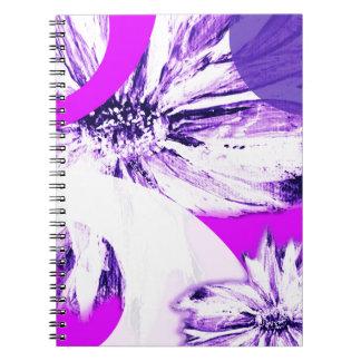 Puré de la flor para arriba libro de apuntes con espiral