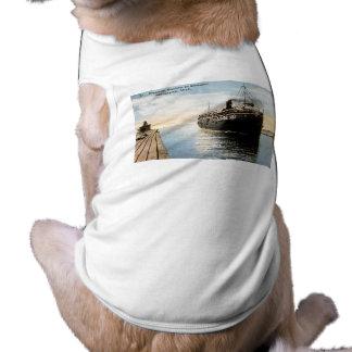 Puritano del vapor en el canal, Macatawa, Michigan Camisetas De Mascota
