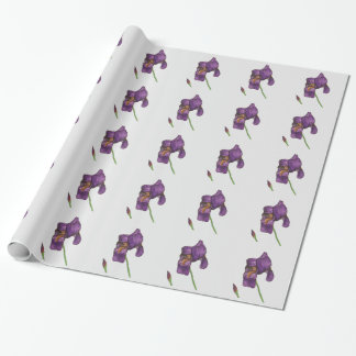 Purple Iris Elegant Wrapping Paper Papel De Regalo