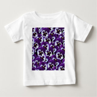Purple_Pansies_Bouquet, _ Camiseta De Bebé