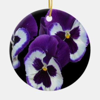 Purple_Pansy_Posy, _ Adorno De Cerámica