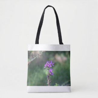 purpleflowertotebag bolso de tela