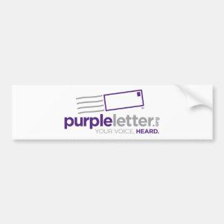 PurpleLetter_Logo+Etiqueta Etiqueta De Parachoque