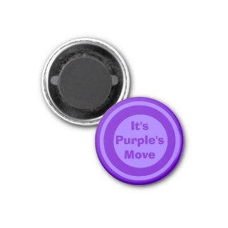 Púrpura 1-1/4 del marcador del ~TAG~ de los inspec Imanes