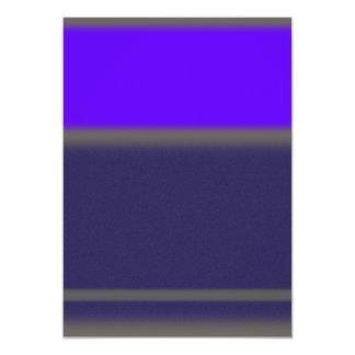 Púrpura abstracta invitación 12,7 x 17,8 cm