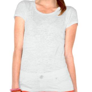 Púrpura-Aguamarina 3 del damasco Camisetas