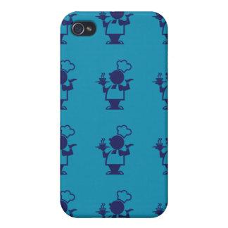 púrpura azul del cocinero iPhone 4 cobertura