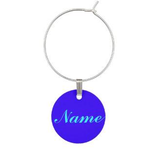 Púrpura azul su etiqueta conocida de la etiqueta identificador de copa