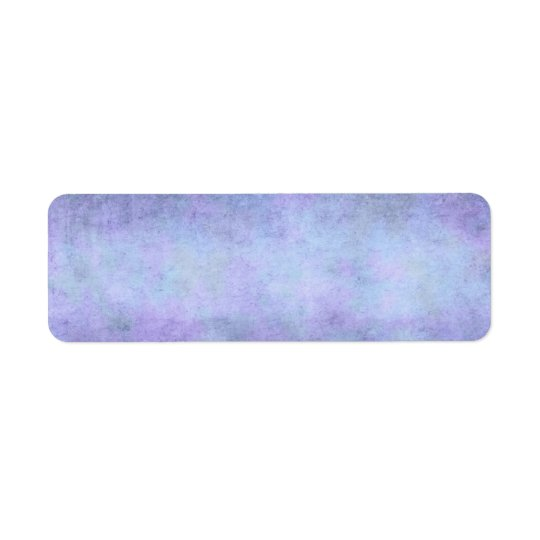 Púrpura, azul verde azulado, aguamarina, y etiqueta de remite