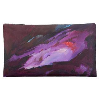 púrpura - bolso cosmético medio