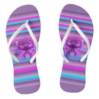 Púrpura bonita chanclas