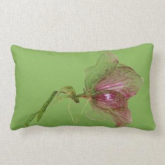 Púrpura botánica del verde de la flor del cojín lumbar