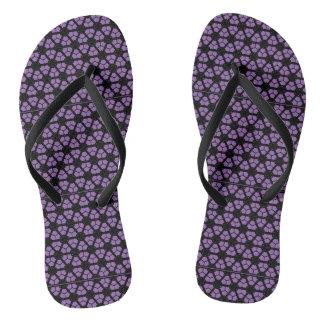 púrpura chanclas
