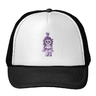 Púrpura colgante del peluche gorro
