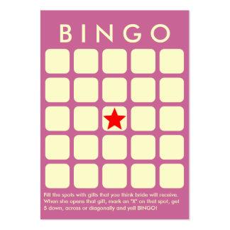 Púrpura con clase 5 x tarjeta nupcial del bingo de tarjetas de visita grandes