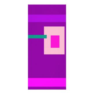 Púrpura contemporánea lonas publicitarias